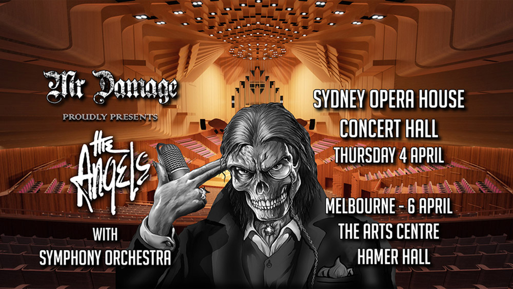 The Angels - Symphony Of Angels Orchestral Concert - Sydney Opera House 4th Apr and Hamer Hall Melbourne 6th Apr 2019